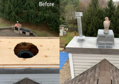 Chimney Chase Cover Replacement – Marlboro, NJ